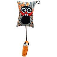 LET´S PLAY hračka polštářek motiv pavouk s catnip 9 cm - Hračka pro kočky