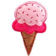 LET´S PLAY hračka zmrzlina s catnip růžová 10 cm - Hračka pro kočky
