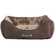 SCRUFFS Chester Box Bed, Chocolate - Dog Bed