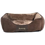 SCRUFFS Chester box bed M 60×50cm čokoládový - Pelíšek pro psy