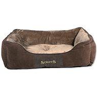 SCRUFFS Chester box bed L 75×60cm čokoládový