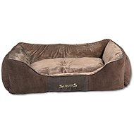 SCRUFFS Chester box bed XL 90×70cm čokoládový