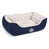 SCRUFFS Wilton Box Bed, Blue - Dog Bed
