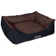 SCRUFFS expedition box bed M 60×50cm čokoládový - Pelíšek pro psy