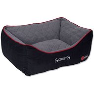 SCRUFFS Thermal Box Bed, Black - Dog Bed