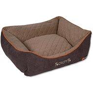SCRUFFS thermal box bed S 50×40cm hnědý - Pelíšek pro psy