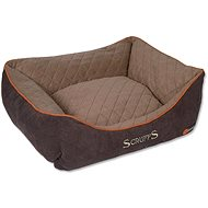 SCRUFFS Thermal Box Bed, Brown - Dog Bed