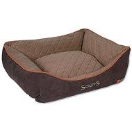 SCRUFFS thermal box bed M 60×50cm hnědý - Pelíšek pro psy