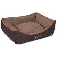 SCRUFFS thermal box bed L 75×60cm hnědý - Pelíšek pro psy