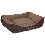 SCRUFFS thermal box bed XL 90×70cm hnědý - Pelíšek pro psy