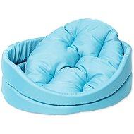 DOG FANTASY pelech oval s polštářem 54×46×16cm tyrkysový - Pelíšek pro psy