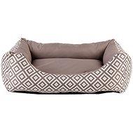 Pelíšek pro psy DOG FANTASY Sofa 83×70×20cm etno hnědé - Pelíšek pro psy