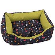 DOG FANTASY Sofa 75×65×19cm origami pes mix černo-zelená - Pelíšek pro psy