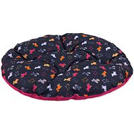 DOG FANTASY polštář 47×40cm origami pes mix černo-růžový - Polštář pro psy