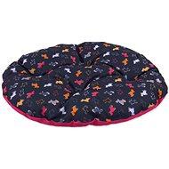 DOG FANTASY polštář 86×70cm origami pes mix černo-růžový - Polštář pro psy