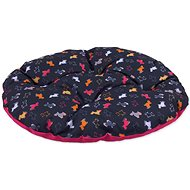 DOG FANTASY polštář 92×78cm origami pes mix černo-růžový - Polštář pro psy