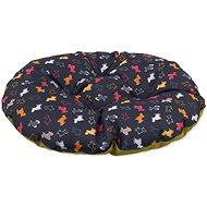DOG FANTASY polštář 105×90cm origami pes mix černo-zelený - Polštář pro psy