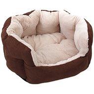 DOG FANTASY pelíšek Comfy1 46×40×20cm čokoládový  - Pelíšek pro psy