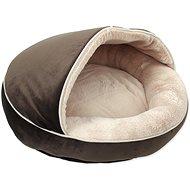 DOG FANTASY pelíšek Comfy3 50×50×33cm čokoládový - Pelíšek pro psy a kočky