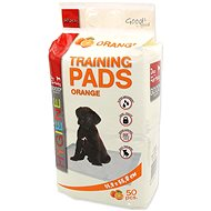 DOG FANTASY Absorbent Pad, Orange 55,8 × 55,8cm, 50 pcs