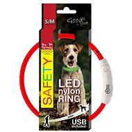DOG FANTASY LED Nylon Collar, Red - Dog Collar