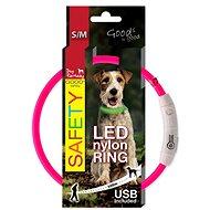 DOG FANTASY LED Nylon Collar, Pink - Dog Collar