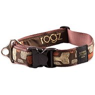 ROGZ obojek Fancy Dress mocha bone 4 × 50-80 cm - Obojek pro psy