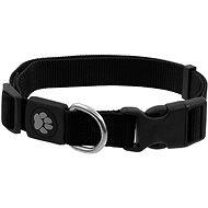 ACTIVE obojek Premium M černý 2×34-49cm - Obojek pro psy