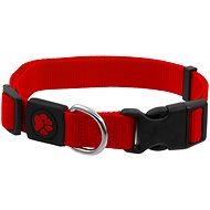 ACTIVE obojek Premium M červený 2×34-49cm - Obojek pro psy