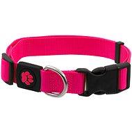 ACTIVE obojek Premium M růžový 2×34-49cm - Obojek pro psy
