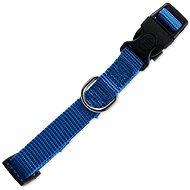 DOG FANTASY obojek Classic S modrý 1,5×27-37cm - Obojek pro psy