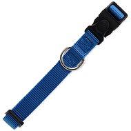 DOG FANTASY obojek Classic M modrý 2×34-49cm - Obojek pro psy