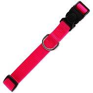 DOG FANTASY obojek Classic M růžový 2×34-49cm - Obojek pro psy
