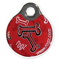 ROGZ známka ID Tagz Red Bone 2,7cm - Známka na obojek