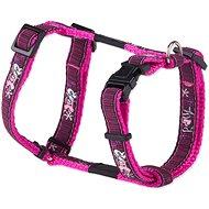 ROGZ postroj Fancy Dress pink love 1,1×23-37cm - Postroj pro psa