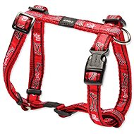 ROGZ postroj H Fancy Dress red bone 1,6×32-52cm - Postroj pro psa