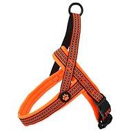 ACTIVE postroj neoprene M oranžový 2×58-70cm - Postroj pro psa