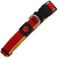 ACTIVE Obojek Fluffy reflective M červený 2,5×35-51cm - Obojek pro psy