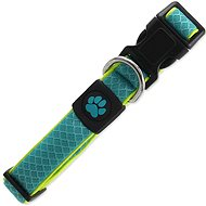 ACTIVE Fluffy reflective collar M turquoise 2,5 × 35-51 cm - Dog Collar