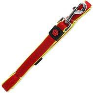 ACTIVE vodítko Fluffy reflective S červené 2×120cm - Vodítko pro psa