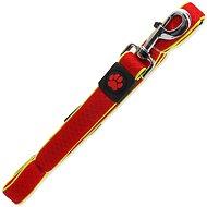 ACTIVE vodítko Fluffy reflective M červené 2,5×120cm - Vodítko pro psa