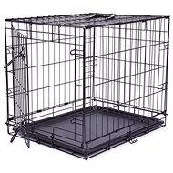 DOG FANTASY klec skládací černá 1 dveře - Klec pro psa
