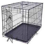 DOG FANTASY klec skládací M černá 1 dveře -76×53×48cm - Klec pro psa