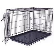 DOG FANTASY Folding Cage, L, Black, 1 Door - 91.5 x 63.5 x 58.5cm - Dog Cage