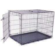 DOG FANTASY Folding Cage, XL, Black, 1 Door - 106.5 × 76 × 71cm - Dog Cage