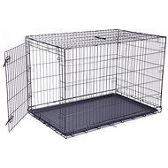 DOG FANTASY klec skládací XXL černá 1 dveře - 122×84×76cm - Klec pro psa