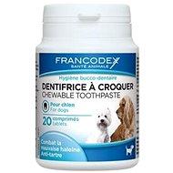 Francodex žvýkací zubní pasta v tabletách pes 20tbl - Zubní pasta pro psy