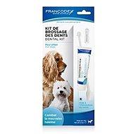 Francodex Dental Kit zubní pasta 70g + kartáček pes - Zubní pasta pro psy