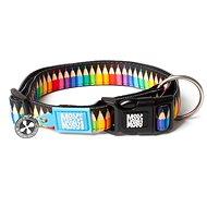 Max & Molly Smart ID Collar semi-retractable, Crayons, Size XS - Dog Collar