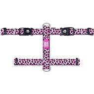 Max & Molly H Postroj, Leopard Pink, Velikost L - Postroj pro psa